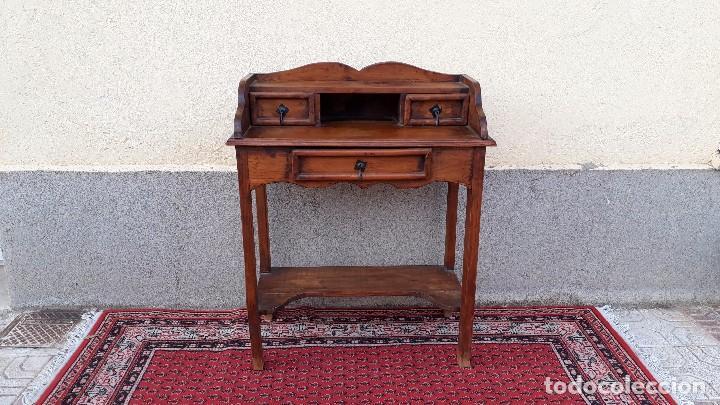 Antigüedades: Consola antigua estilo colonial. Mueble auxiliar secreter antiguo. Mesa auxiliar estilo rústico - Foto 2 - 107466515