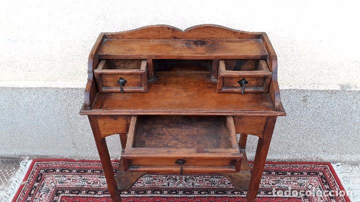 Antigüedades: Consola antigua estilo colonial. Mueble auxiliar secreter antiguo. Mesa auxiliar estilo rústico - Foto 6 - 107466515
