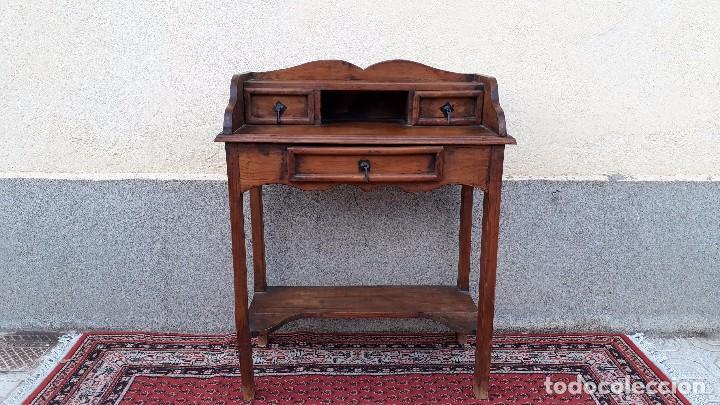 Antigüedades: Consola antigua estilo colonial. Mueble auxiliar secreter antiguo. Mesa auxiliar estilo rústico - Foto 11 - 107466515