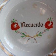 Antigüedades: ANTIGUO PLATO RECUERDO DE SAN CLAUDIO. Lote 107485347