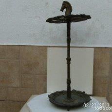 Antigüedades: BASTONERO, PARAGÜERO BRONCE. Lote 107487075