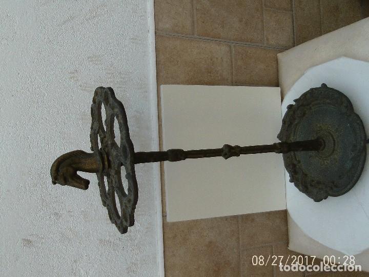 Antigüedades: BASTONERO, PARAGÜERO BRONCE - Foto 2 - 107487075