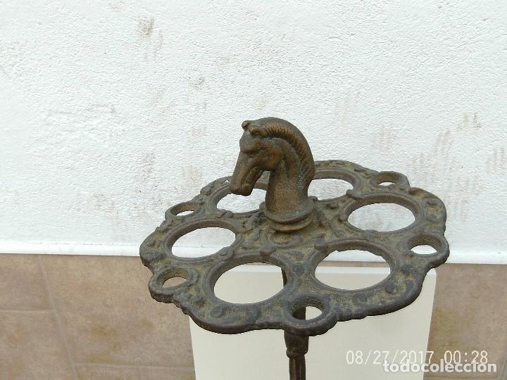 Antigüedades: BASTONERO, PARAGÜERO BRONCE - Foto 3 - 107487075