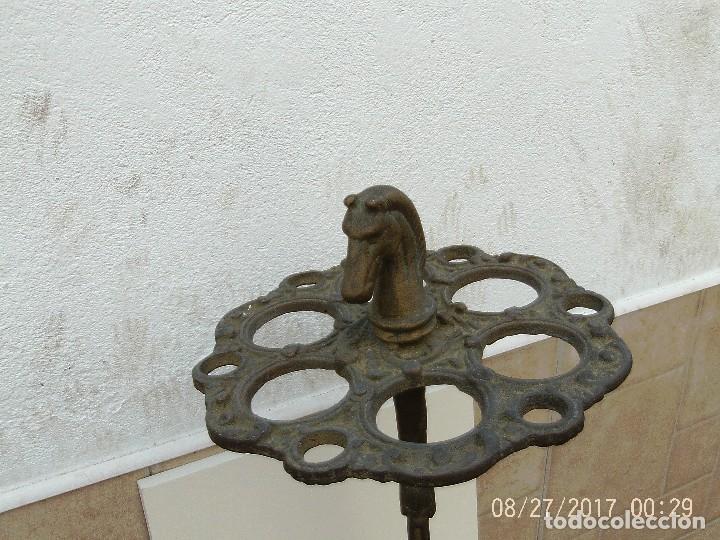 Antigüedades: BASTONERO, PARAGÜERO BRONCE - Foto 4 - 107487075