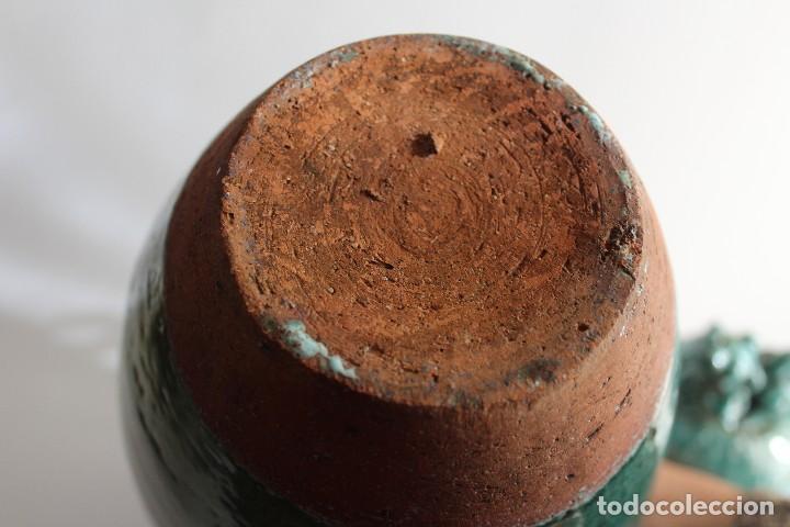 Antigüedades: JARRON TINAJA EN CERAMICA CHINA CELADON CON TAPA PERRO FOO - Foto 5 - 107512639
