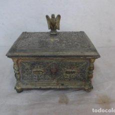Antigüedades: ANTIGUA CAJA DE BRONCE IMPERIO, FRANCESA, ORIGINAL DE SIGLO XIX. FRANCIA.. Lote 107515779