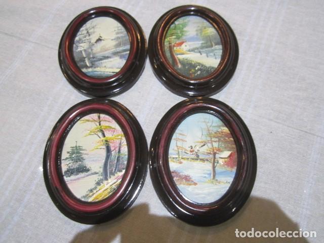 4 marcos ovalados de plástico, con pinturas al - Comprar Marcos ...