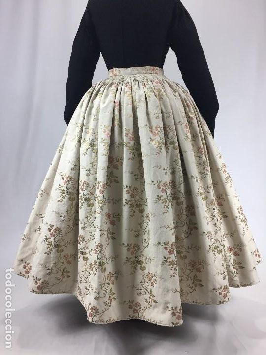 SAYA DE SEDA BROCADA (Antigüedades - Moda y Complementos - Mujer)