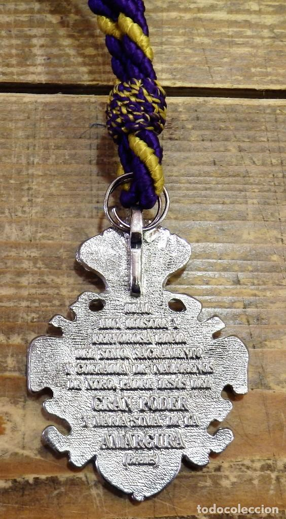 Antigüedades: SEMANA SANTA DE BRENES, SEVILLA, MEDALLA CON CORDON HERMANDAD DEL GRAN PODER - Foto 2 - 162999480