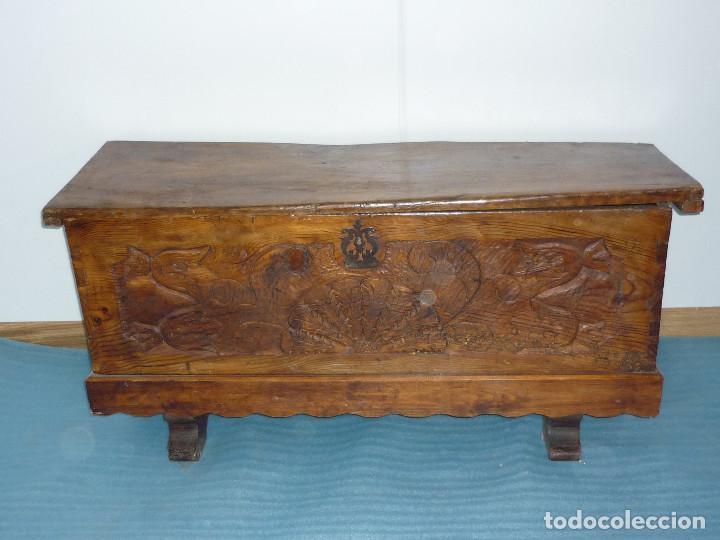 arca de pino talla popular rustica, restaurada, - Comprar Baúles ...