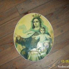 Antigüedades: CUADRO DE LA VIRGEN DEL CARMEN. Lote 107619391