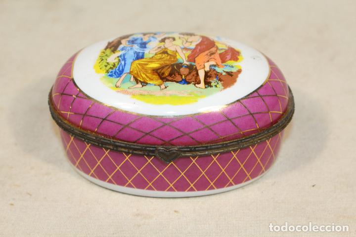 Antigüedades: caja joyero en porcelana - Foto 2 - 107626599