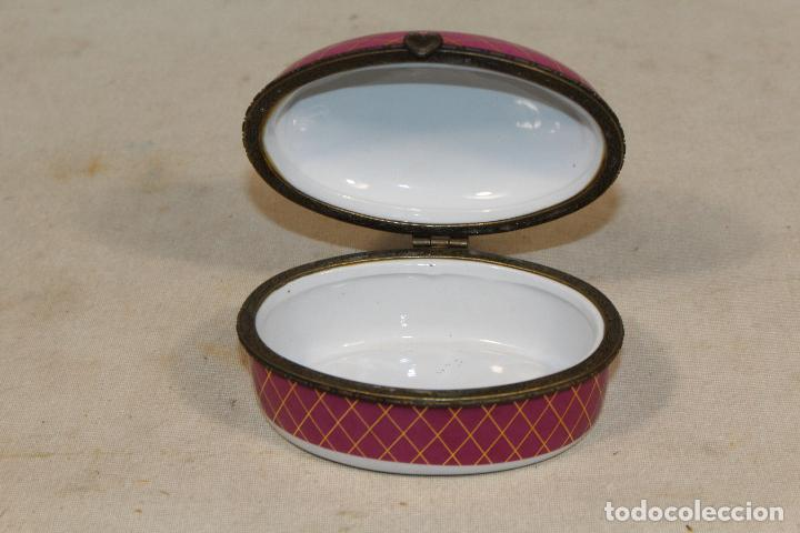 Antigüedades: caja joyero en porcelana - Foto 4 - 107626599