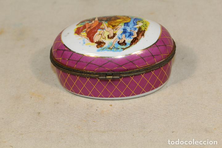 Antigüedades: caja joyero en porcelana - Foto 6 - 107626599
