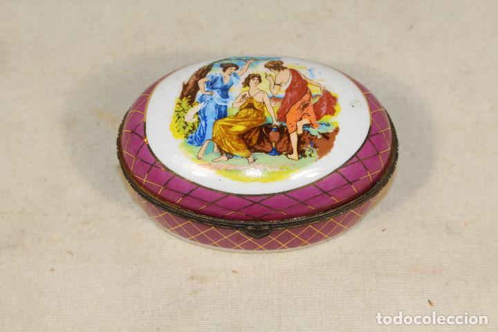 Antigüedades: caja joyero en porcelana - Foto 7 - 107626599