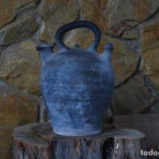 Antigüedades: BOTIJO CERAMICA NEGRA - CORNELLA -. Lote 107644067