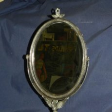 Antigüedades: (M) ESPEJO DE PLATA CON CONTRASTES , 41 X 22'5 CM, VER FOTOGRAFIAS ADICIONALES. Lote 107669047