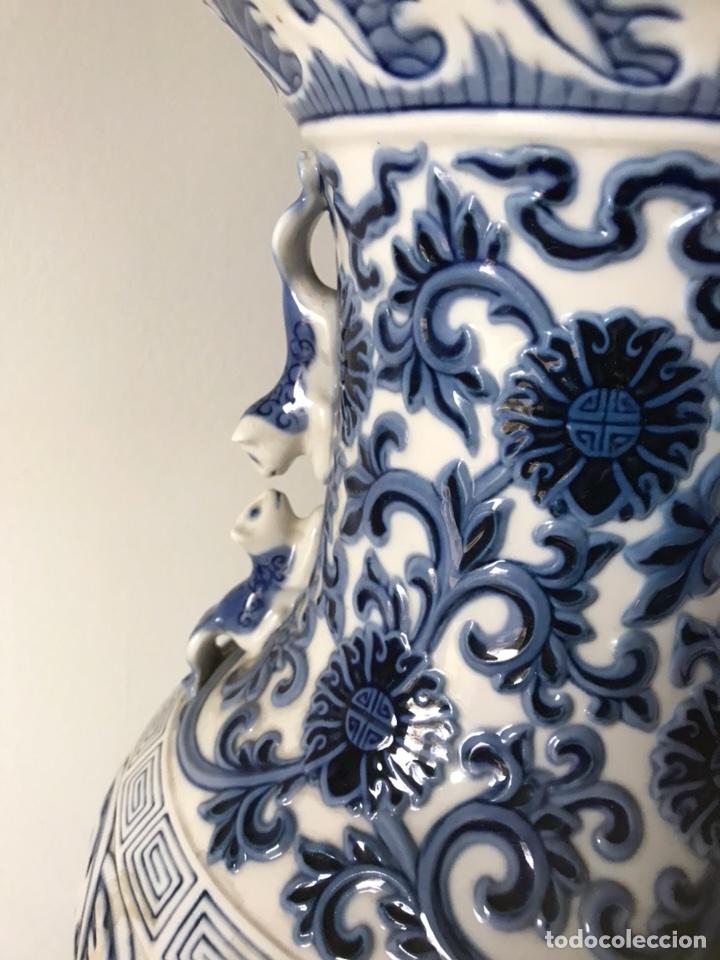 Antigüedades: Jarrón Porcelana- Lladró- Jarrón Pekín- 48 cm (Dispongo de la pareja) - Foto 3 - 107671610