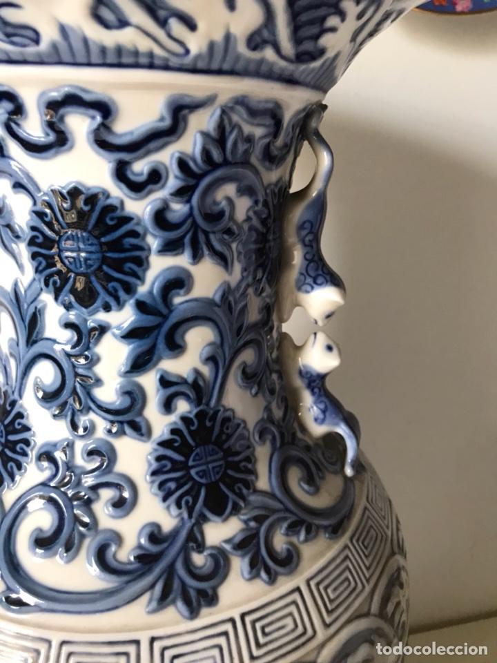 Antigüedades: Jarrón Porcelana- Lladró- Jarrón Pekín- 48 cm (Dispongo de la pareja) - Foto 4 - 107671610