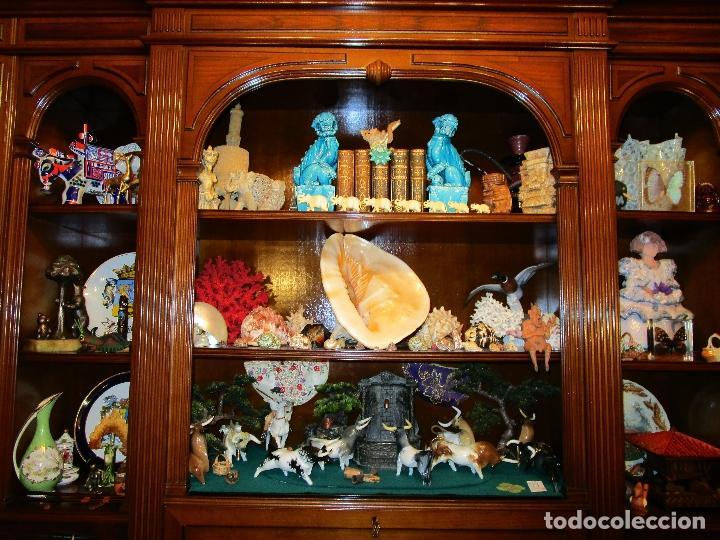 Antigüedades: MANADA TOROS PORCELANA DE ALGORA INCLUYENDO PICADOR Y CABESTRO - Foto 25 - 107684343