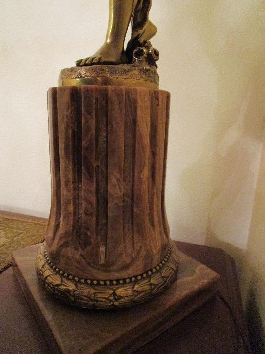 Antigüedades: LAMPARA DE PIE EN BRONCE Y MARMOL ( grande y muy pesada) - Foto 24 - 102460515