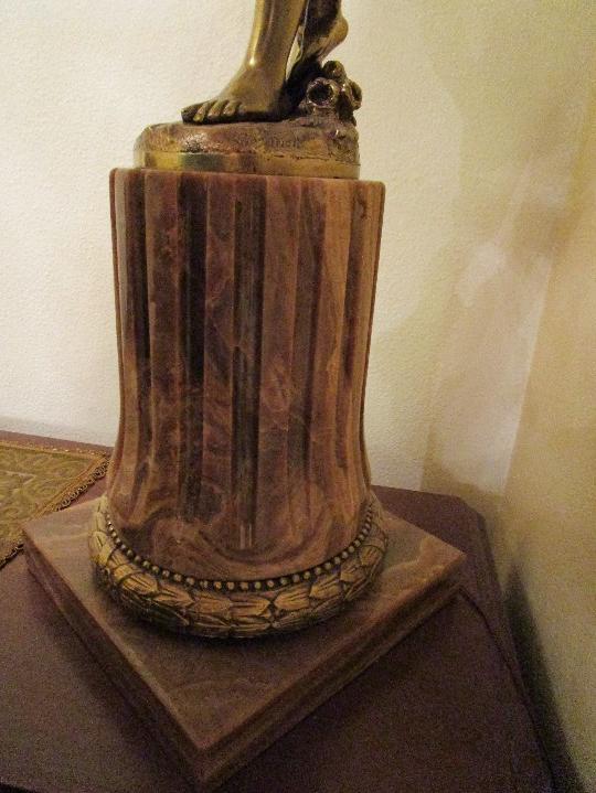 Antigüedades: LAMPARA DE PIE EN BRONCE Y MARMOL ( grande y muy pesada) - Foto 26 - 102460515
