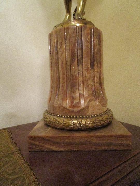 Antigüedades: LAMPARA DE PIE EN BRONCE Y MARMOL ( grande y muy pesada) - Foto 25 - 102460515