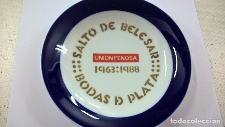PLATO DE SARGADELOS O CASTRO - SALTO DE BELESAR -BODAS DE PLATA -1963-1988 -UNION FENOSA-14 CENT. (Antigüedades - Porcelanas y Cerámicas - Sargadelos)