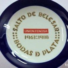 Antigüedades: PLATO DE SARGADELOS O CASTRO - SALTO DE BELESAR -BODAS DE PLATA -1963-1988 -UNION FENOSA-14 CENT.. Lote 223441748