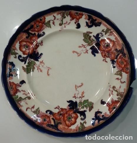 PLATO INGLÉS ROYAL, FINALES DEL SIGLO XIX (Antigüedades - Porcelanas y Cerámicas - Sargadelos)