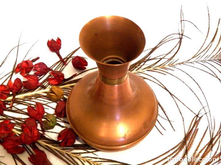 Antigüedades: Florero, decoración rústica, florero de cobre, jarrón cobre, Años 60 - Foto 2 - 107711179