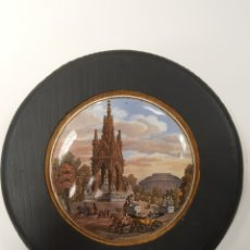 Antigüedades: ALBERT MEMORIAL. ANTIGUA TAPA INGLESA DE PORCELANA ORIGINARIAMENTE PARA BOTES. ENMARCADA. Lote 107715172