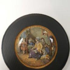 Antigüedades: HIDE AND SEEK. ANTIGUA TAPA INGLESA DE PORCELANA ORIGINARIAMENTE PARA BOTES. ENMARCADA. Lote 107717462
