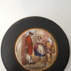 Antigüedades: CRIES OF LONDON FINE BLACK CHERRIES. ANTIGUA TAPA INGLESA DE PORCELANA ORIGINARIAMENTE PARA BOTES. E. Lote 107717900