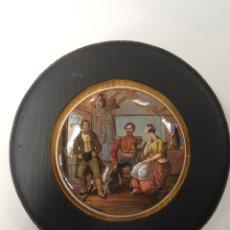 Antigüedades: THE RIVALS. ANTIGUA TAPA INGLESA DE PORCELANA ORIGINARIAMENTE PARA BOTES. ENMARCADA. Lote 107718164