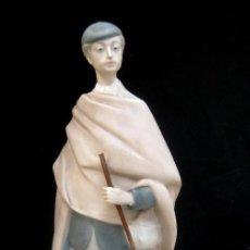 Antigüedades: GRAN PASTOR 36CM NAO DE LLADRO PORCELANA FINA BISCUIT SELLO ANTIGUO. Lote 107755311