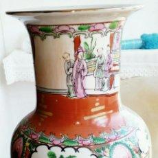 Antigüedades: JARRÓN CHINO DE PORCELANA FINA PINTADO A MANO.. Lote 107760515
