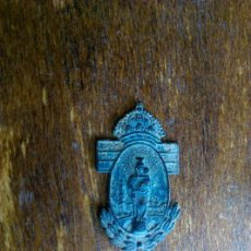 Antigüedades: ANTIGUA PLACA ADORNO VIRGEN DEL PILAR ZARAGOZA. Lote 107778807
