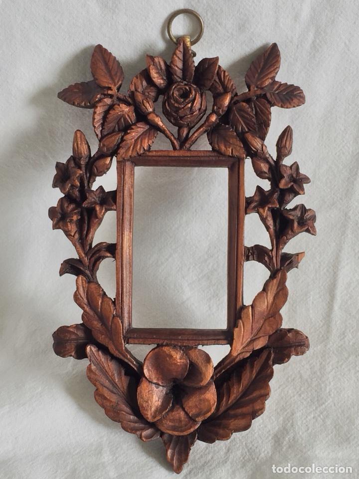 marco madera tallado a mano 17,5cm x 11cm para - Comprar Marcos ...