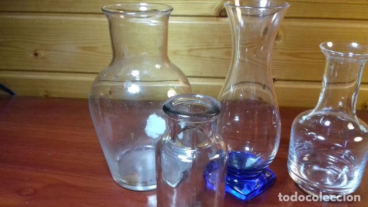 Antigüedades: Lote de 4 frascos de vidrio. Frances años 50. - Foto 2 - 107798479