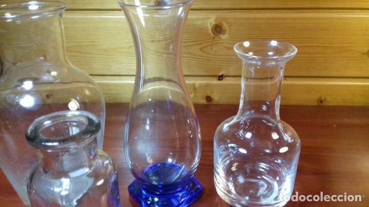 Antigüedades: Lote de 4 frascos de vidrio. Frances años 50. - Foto 3 - 107798479