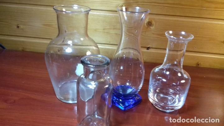 Antigüedades: Lote de 4 frascos de vidrio. Frances años 50. - Foto 4 - 107798479