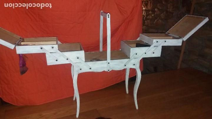 Antigüedades: costurero de madera - Foto 2 - 107802203