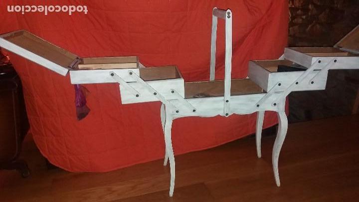 Antigüedades: costurero de madera - Foto 3 - 107802203