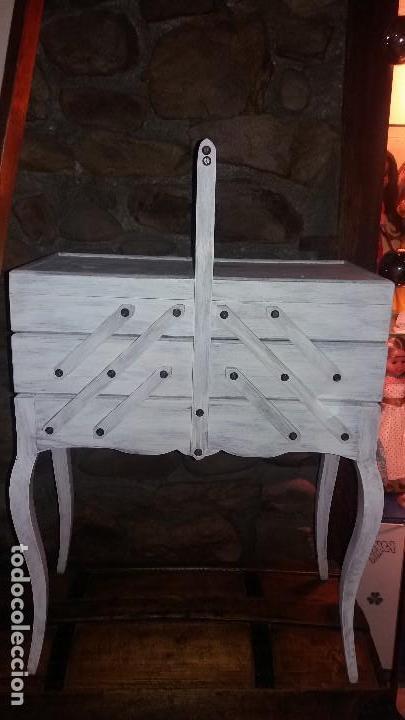 Antigüedades: costurero de madera - Foto 4 - 107802203