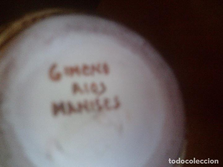 Antigüedades: JARRON - ANFORA CERAMICA REFLEJOS DE MANISES, FIRMADA GIMENO RIOS - Foto 4 - 107806607