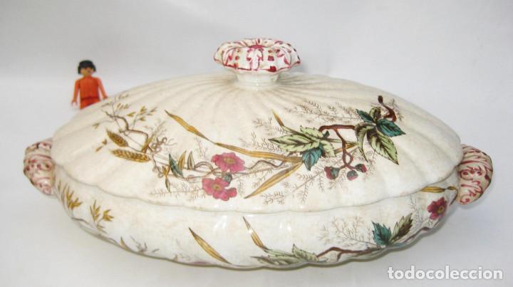 De museo preciosa fuente o sopera antigua s x comprar - Ceramica de la cartuja ...