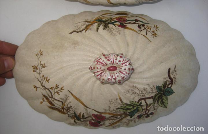 Antigüedades: DE MUSEO! PRECIOSA FUENTE O SOPERA ANTIGUA S XIX PICKMAN MEDALLA ORO CHINA OPACA - Foto 4 - 107807491