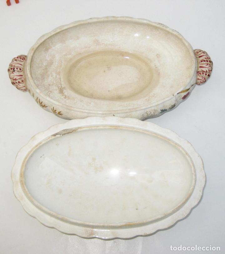Antigüedades: DE MUSEO! PRECIOSA FUENTE O SOPERA ANTIGUA S XIX PICKMAN MEDALLA ORO CHINA OPACA - Foto 7 - 107807491