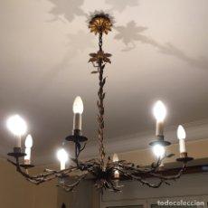 Antigüedades: LAMPARA TECHO DE 8 BRAZOS.. Lote 107820466